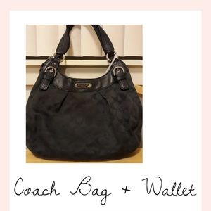 Coach Shoulder Bag + Wallet: Excellent Shoulderbag